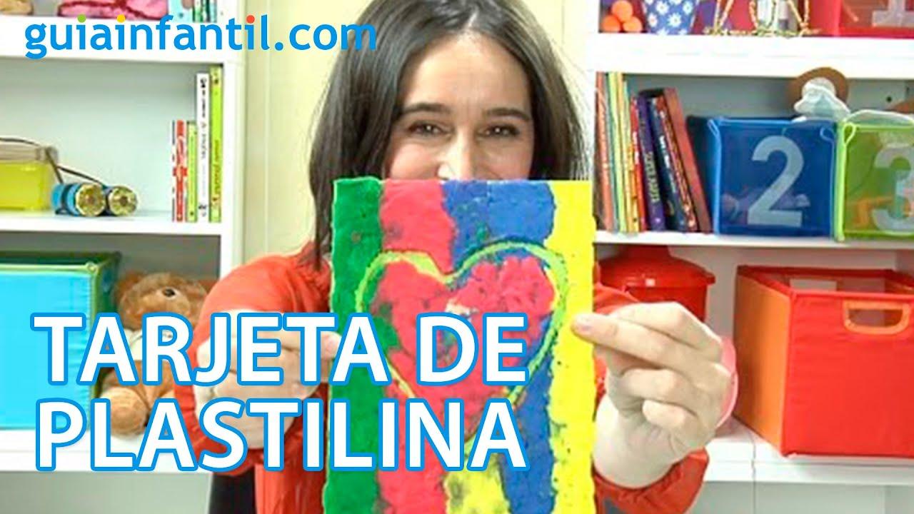 Tarjeta de plastilina para el Día del Padre para niños de 3 a 5 años