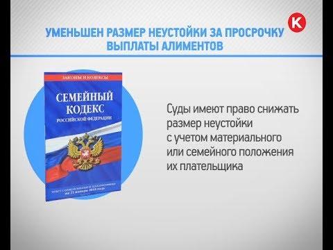 КРТВ. Уменьшен размер неустойки за просрочку выплаты алиментов