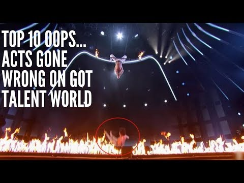 Top 10 Oops.....Acts Go WRONG On Got Talent World 2018 (видео)