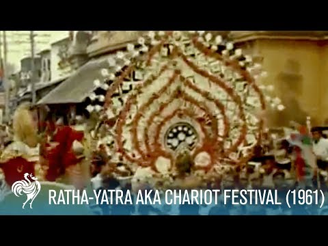 This rare footage offers a glimpse of the Jagannath Rath Yatra as it was half a century ago