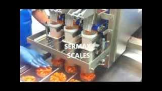 SERMAX SCALES / LINEAR BELT WEIGHER FOR FRESH AND STICKY PRODUCTS  / Pesadora para SALMON, Topping