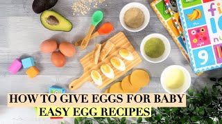 INTRODUCE EGGS TO BABY | WHEN TO INTRODUCE EGGS TO BABY | EGGS BABY FOOD | EGG RECIPES FOR BABY