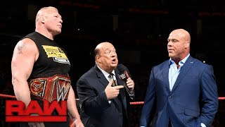 RAW: Lesnar a abandonar WWE si pierde en SummerSlam; Triple Amenaza; Cass/Show