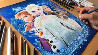 Frozen 2 Artwork - Timelapse   Artology