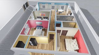 3 BHK | Beautiful Home Plan | By 3D Design | 3D Home Plan