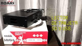 Amplificador Perifoneo 100w Usb Sd Mp3 Pa R100mp3 Chilangoeshop
