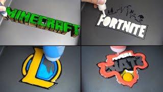 Download Game Logo Pancake art - Minecraft, Fortnite, League