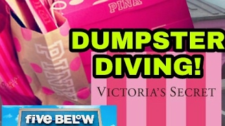 FINDING MORE VICTORIA'S SECRET and FIVE BELOW DUMPSTER DIVING!!