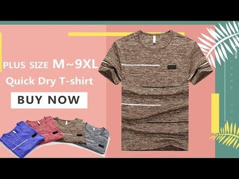 Мужская летняя быстросохнущая футболка XIYOUNIAO