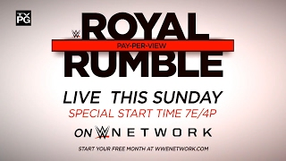 Don't miss WWE Royal Rumble 2017 – Live this Sunday