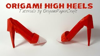 Origami High Heels Tutorial By OrigamiPaperCraft