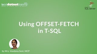 Using OFFSET-FETCH in T-SQL