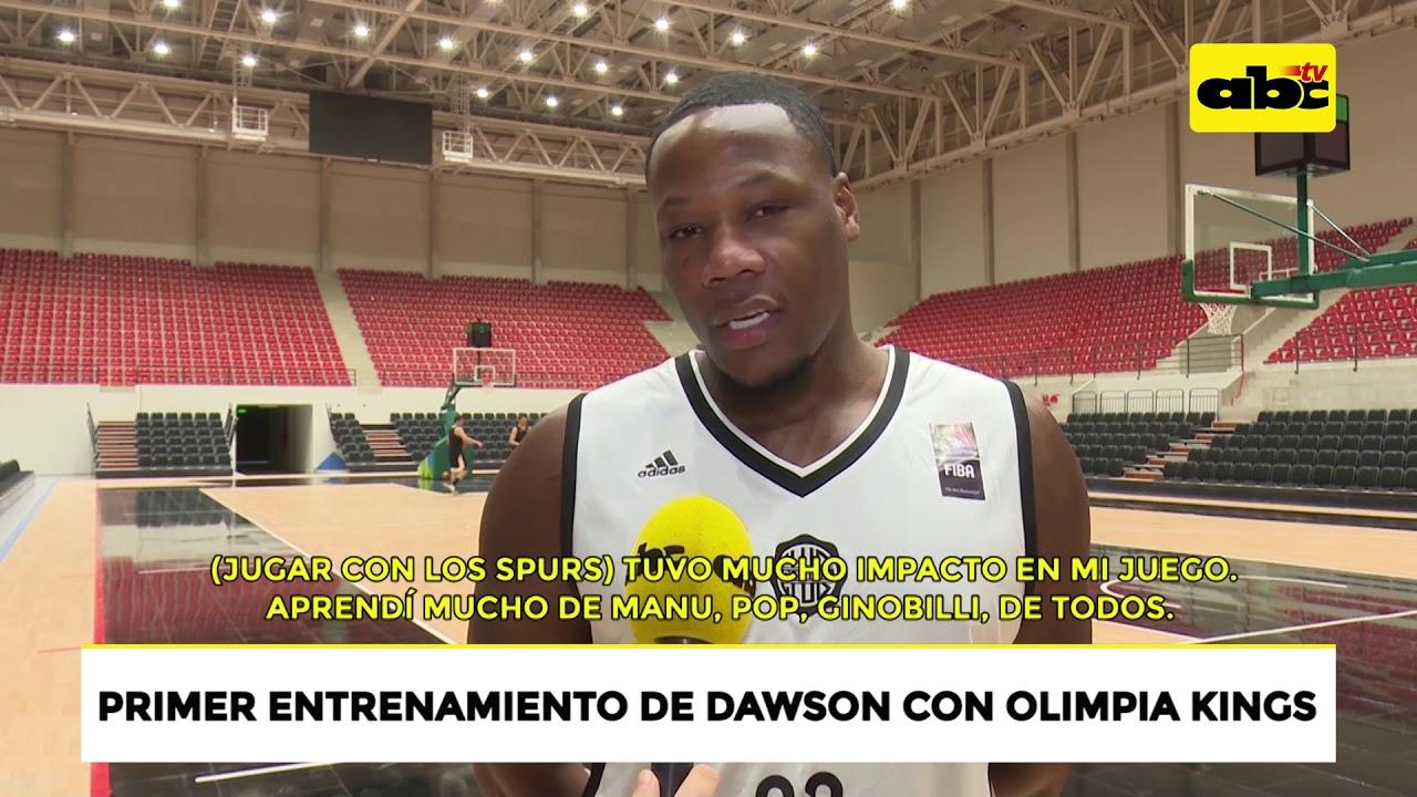 Eric Dawson durante su primer entrenamiento con Olimpia Kings