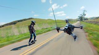 Drones and Roads: (DJI FPV x ONEWHEEL)