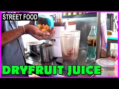 Video How To Make Dry Fruits Juice ? || Indian Street Foods - Tasty Juice Recipes