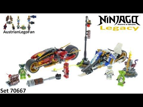 Vidéo LEGO Ninjago 70667 : La moto de Kai et le scooter des neiges de Zane