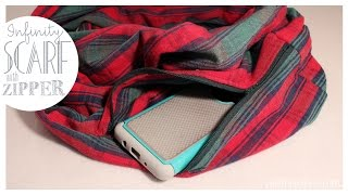Infinity Scarf With Hidden Pocket | EASY How To | Whitney Sews
