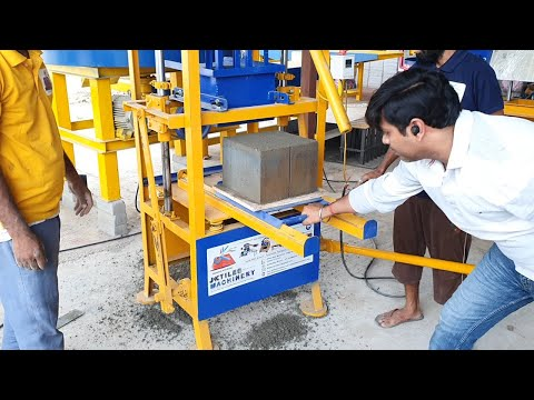 Handpress semi automatic brick making machine
