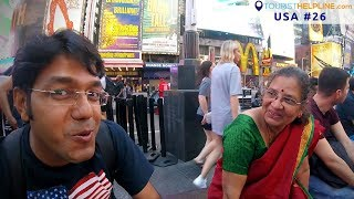 Times Square, New York   See whom I met !!