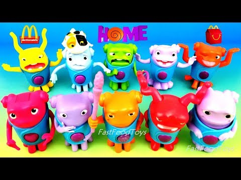 FULL WORLD SET DREAMWORKS HOME McDONALDS HAPPY MEAL TOYS 10 KIDS MOVIE OH BOOV ALIEN EUROPE US 2015