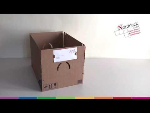 MULTI Cargo Karton mit Lieferscheinhalter