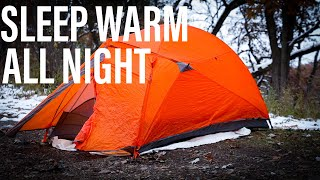 How To Sleep Warm All Night In The Winter | Winter Gear