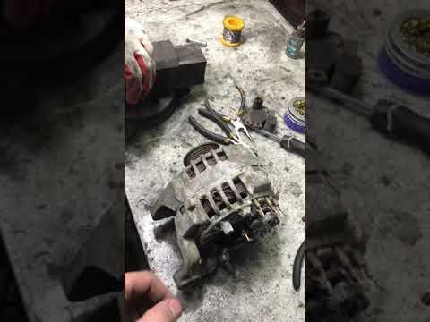 Как разобрать генератор valeo, ремонт генератора  vw passat