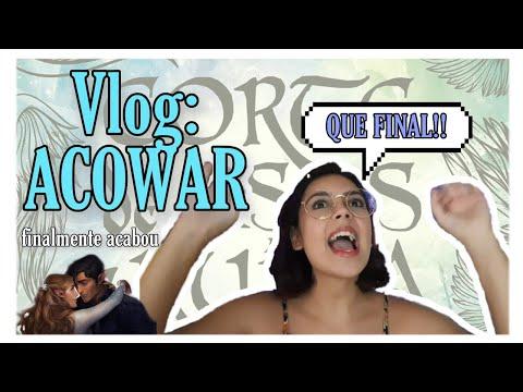 Vlog: lendo Corte de Asas e Ruínas (ACOWAR)