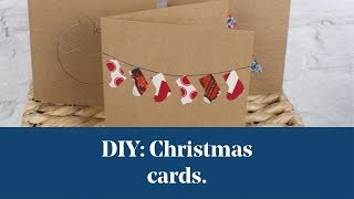 DIY: Sewing Machine Christmas Cards