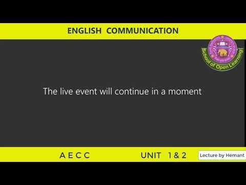 ENGLISH COMMUNICATION- UNIT 1-2 By - HEMANT SHARMA