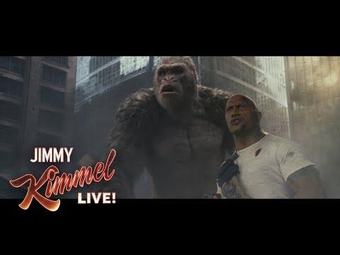Dwayne Johnson on His Gorilla Best Friend in Rampage (видео)