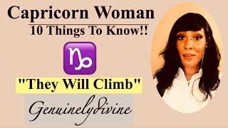 Capricorn Woman ♑️10 Things!!