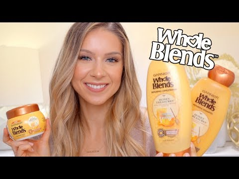 GARNIER Whole Blends (Honey Treasures) Review! Shampoo, Conditioner + Hair Mask