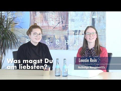 Thumbnail YouTube Video mit Foto der Studentin und der Frage: Was magst Du am liebsten?