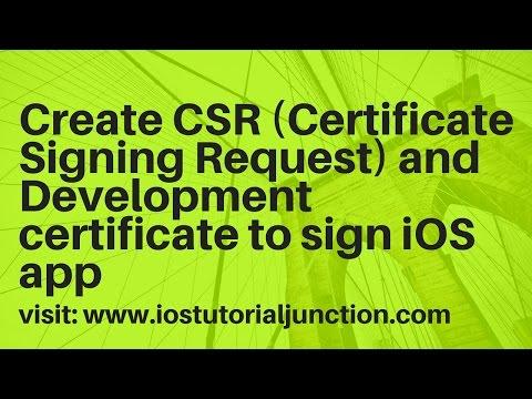 Create Certificates for iOS app using Apple developer portal ...