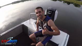 Keith Saint Onge: Beginner Barefoot Water Ski Start With Driving Tips!