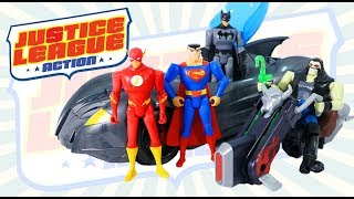 Justice League Action ~Superman Lobo Follow That Space Cab, Batmobile,  and other figures