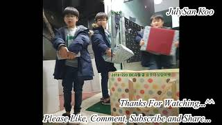 DaeHan, MinGuk, ManSe Sell The Sweet Potatoes and Also Recieving Gifts From Fans in 2018 FMV TROS
