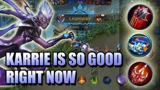 KARRIE THE SEMITANK BUILD BORDERLINE OP 💪💪