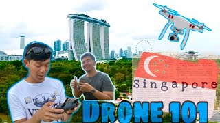 HOW TO FLY DRONE (First time) + SINGAPORE Bus Tour | It's Benji
