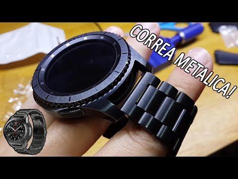 4ad28ee3e068 Malla Correa Metalica para el Samsung Gear S3 Frontier
