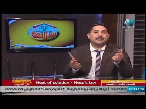 كيمياء لغات للصف الأول الثانوي 2021 (ترم 2 ) الحلقة 5 –  Heat of solution - Hess's law