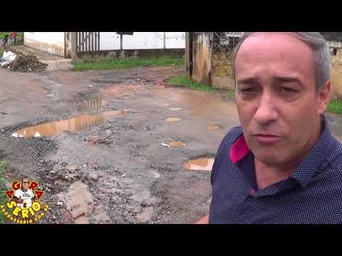 Vereador Marciano detona Secretaria de Obras pela inoperância no caso do buraco no retorno da entrada da cidade