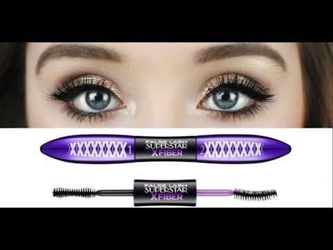 L'Oreal Superstar X Fiber Mascara Review & Demo | Haleigh Amend