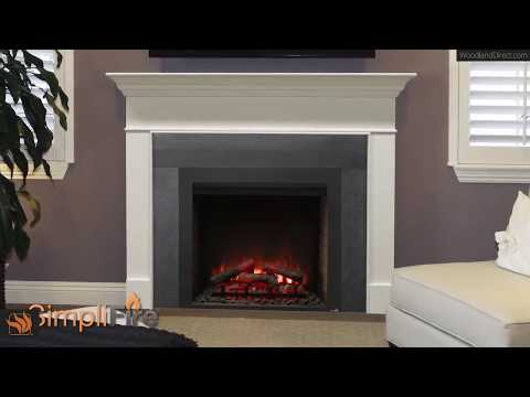 The SimpliFire Built-In Electric Fireplace