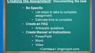 Virtual Administrative Assistant - How to Create the Assignment