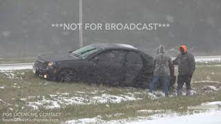 11-14-18 Pine Bluff, AR Heavy Snow Brings Treacherous Driving Conditions With Numerous Accidents
