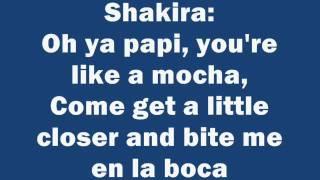 Shakira - Rabiosa feat  Pitbull Lyrics/letra on screen