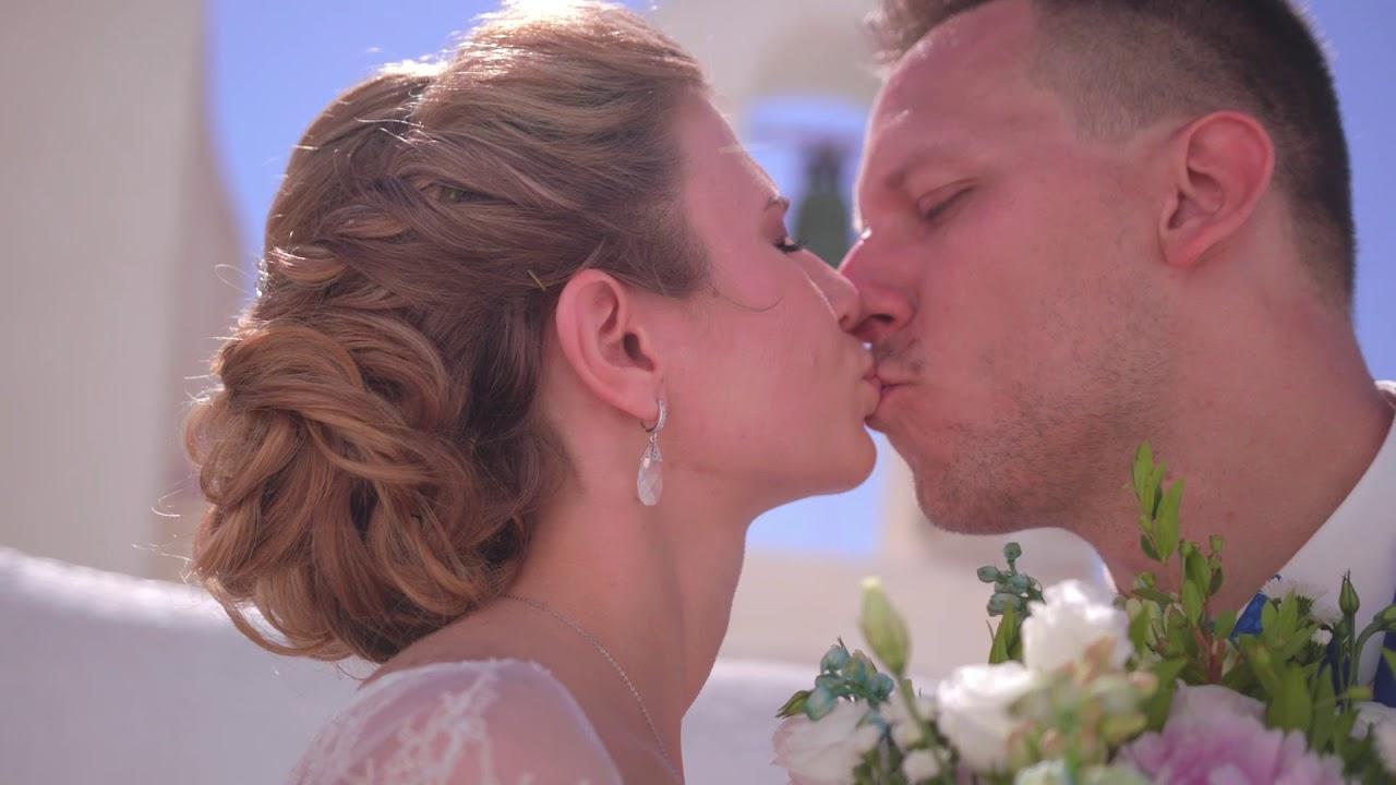Портфолио организации свадьбы на Санторини - Алекса и Андрей