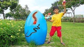 Giant Egg Surprise opening Eggs Toys For Kids ❤ Surich ToysReview ❤ Trò Chơi Mở Trứng Khổng Lồ